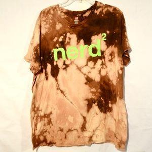 Nerd power XL Grunge Shirt Festival Gamer Tie Dye